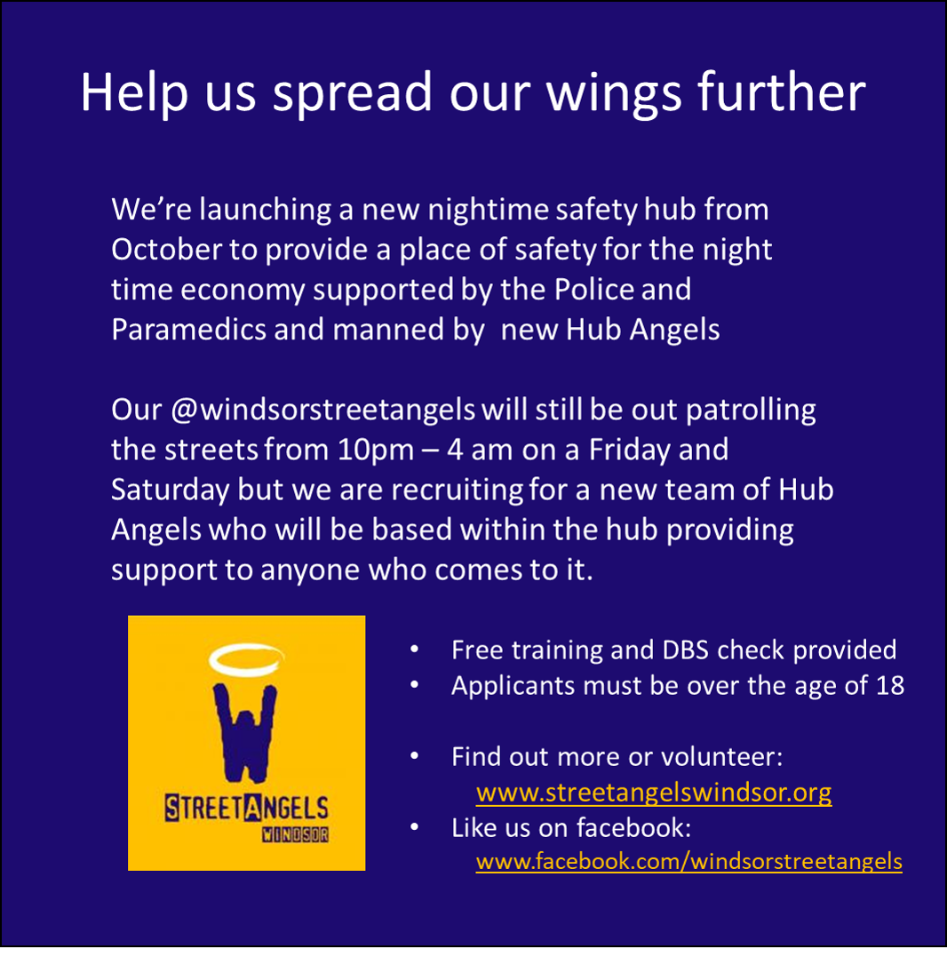 Windsor Street Angels to launch new Night Time Safety Hub