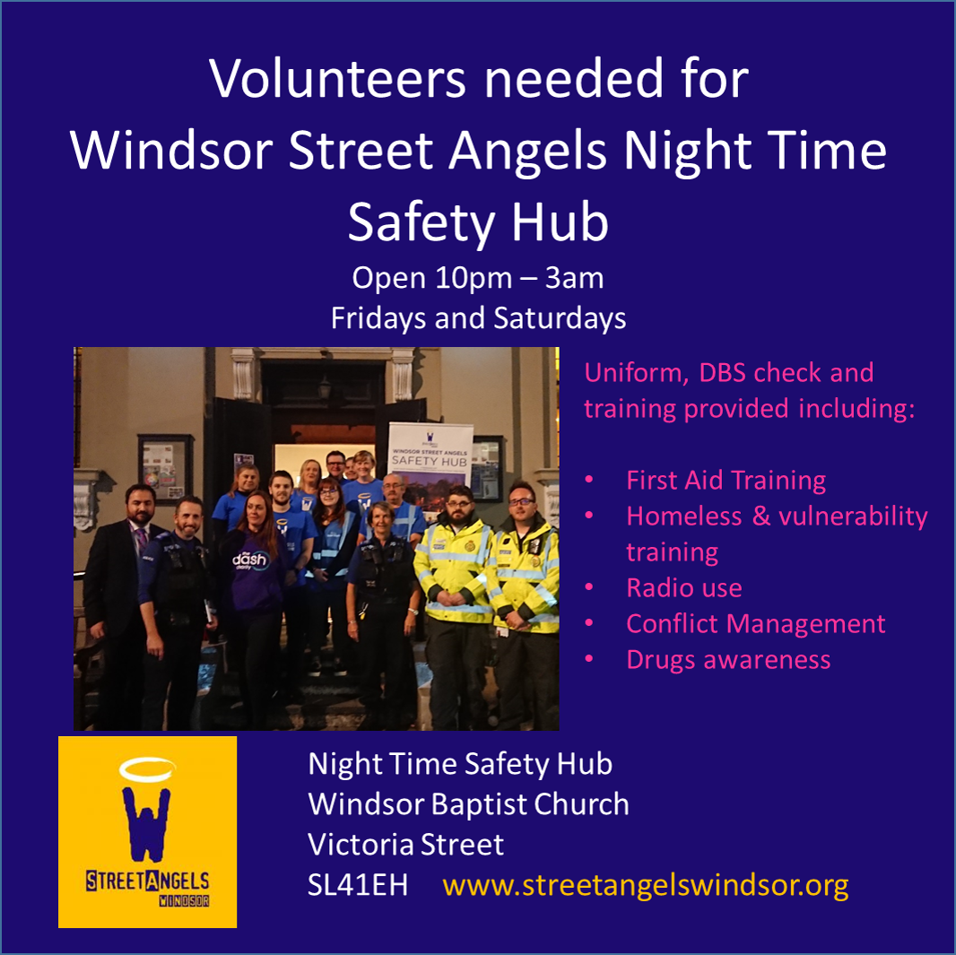 Volunteers needed for Night Time Safety Hub